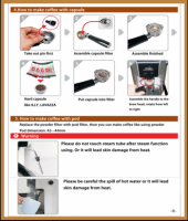Instruktion till Espressomaskin Kapslar