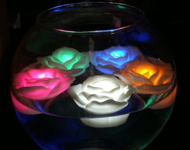 6st LED ljus rosor. Lysande prydnads ros